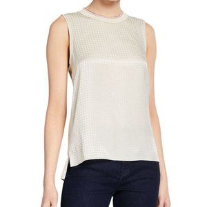 Rag & Bone Ali Houndstooth Tank Could Gray Cream S